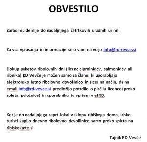 Uradne ure RD Vevče